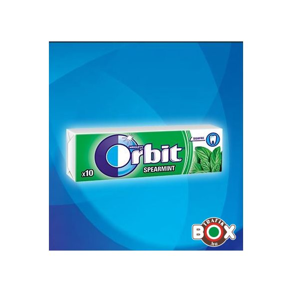 Orbit Drazsé Spearmint 10 db-os (zöld)