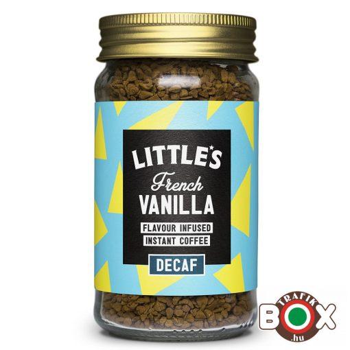 Little's Koffeinmentes Francia Vanília ízesítésű Prémium Instant Kávé 50 g