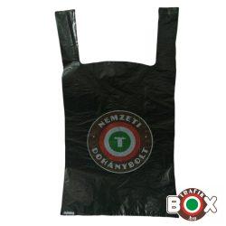 Fekete Ingvállas Táska Nemzeti Dohánybolt felirattal (30×52cm, 7 kg-os)