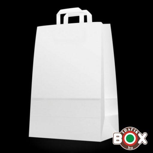 Papírtáska szalagfüles 85 g-os  fehér (22x10x35 cm) 50 db 3929