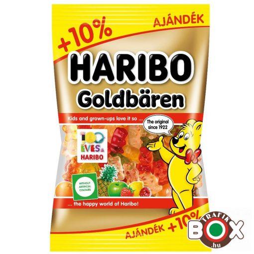 +10% AJÁNDÉK HARIBO Goldbaren Gumicukor Vegyes gyümölcs ízű 110 g