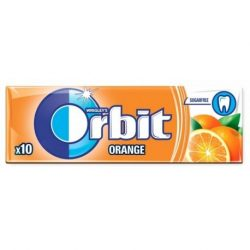 Orbit White Drazsé Orange 10 db-os