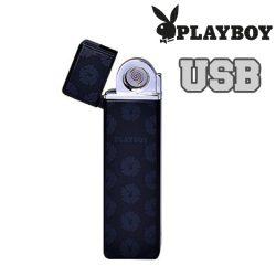 Öngyújtó Playboy fém USB-röl tölthető vékony fekete 40400323-3