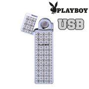 Öngyújtó Playboy fém USB vékony fehér 40400323-4