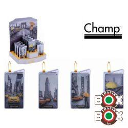 Öngyújtó Champ fém Fekete-Sárga 40401884
