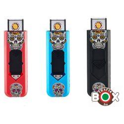 Öngyújtó Champ USB-röl tölthető Koponyás 40406005