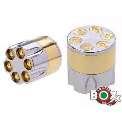 Dohányőrlő Champ Forgótár Arany-Ezüst Színben 3 részes 4,2 cm 40447640