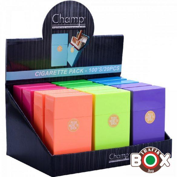 Cigarettatartó CHAMP Click box Élénk színes 100-as 40448062