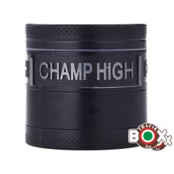 Dohányőrlő CHAMP Fém 4 részes 4 cm fekete 40506088