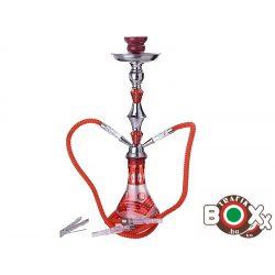 Vizipipa CHAMP Prémium Arab Dizájn Kétcsöves Piros 55 cm 40508010