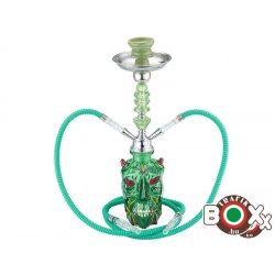 Vízipipa CHAMP AL MALIK BENSLIMANE, Kétcsöves 46 cm Zöld Ördög 40508030