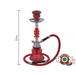 Vízipipa CHAMP AL MALIK, TAZA Egycsöves 35 cm Piros 40508037