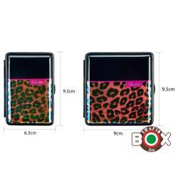 Cigarettatárca CHAMP fényes leopárd 12-20 szálas 40509009