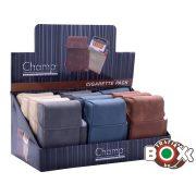 Cigarettatartó CHAMP gyújtótartóval bőr színes 40590420