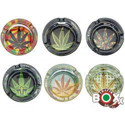 Hamuzó CHAMP LEDES üveg érintésre világít Cannabis 8,5 cm × 5 cm 40590552