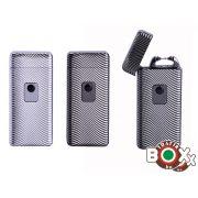 Öngyújtó Silver Match USB egyíves sokkolós 40674192