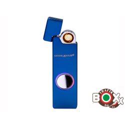 Öngyújtó Silver Match fém, Kék, USB-röl tölthető Icon izzítófej 40674210