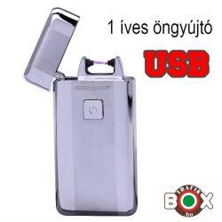 Öngyújtó Silver Match ICON USB-röl tölthető egyíves ezüst 40674212-1