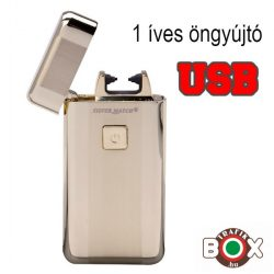 Öngyújtó Silver Match ICON USB-röl tölthető egyíves arany 40674212-2