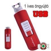 Öngyújtó SM ICON ARC USB-röl tölthető egyíves piros 40674216-2