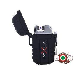 Öngyújtó Silver Match ICON ARC USB-röl tölthető Vízálló Dupla íves XTREME Black 40674266