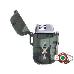 Öngyújtó Silver Match ICON ARC USB-röl tölthető Vízálló Dupla íves XTREME Terepminta 40674268