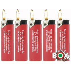 Feliratozott Öngyújtó Prof elektromos Egyszínű Piros 40802916