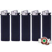 Öngyújtó tűzköves PROF Fekete ezüst kupakkal 40880002