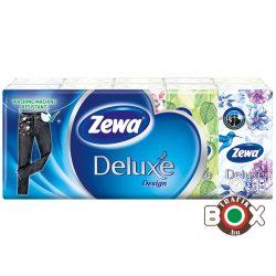 Zewa Papírzsebkendő 10×10 db 3 rétegű Deluxe Design, Limited (ellenáll a mosásnak)