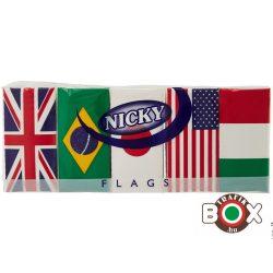 Nicky papírzsebkendő 4 rétegű 15 x 9 db Zászlós