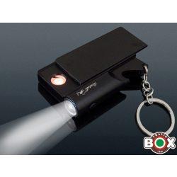 ÖNGYÚJTÓ USB-röl tölthető, Sörbontós, Kulcstartóval, Lámpával, Fekete 46531