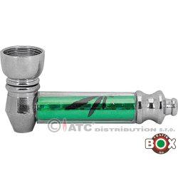 Fémpipa  bliszterezett zöld színben (7cm+filter) 58063