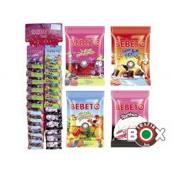 Bebeto Gumicukor Akasztós vegyes választék 2.  24×35g ( juicy berries, funny bears, theetos, rink cola )