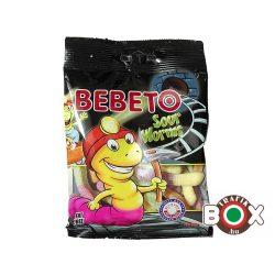Bebeto Gumicukor Sour Worms ( savanyú vegyes gyümölcs ízű ) 80 g