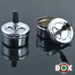 Hamuzó bepörgetős kerek ezüst 8 cm 61100