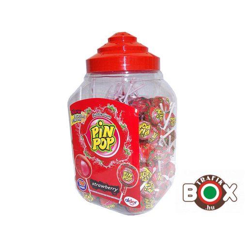 PIN POP Strawberry Nyalóka + Rágó 100×18g