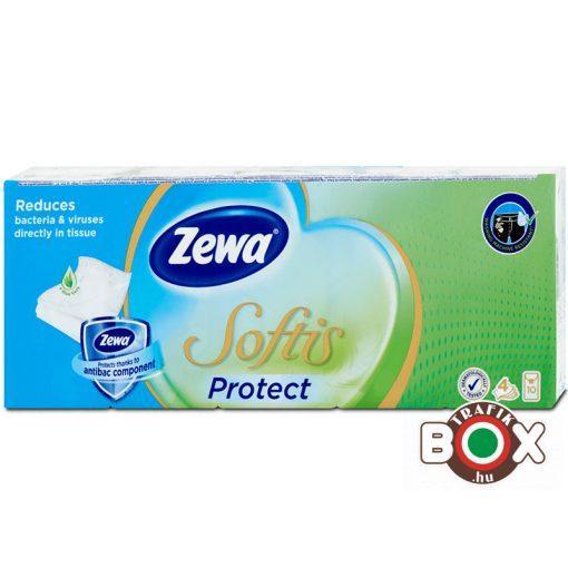 Zewa Papírzsebkendő 10×9 db 4 rétegű Protect (ellenáll a mosásnak)