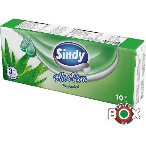 Sindy papírzsebkendő 3 rétegű Aloe Vera 10 x 10 db