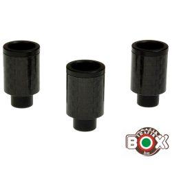 Drip tip Fekete Elektromos cigaretta szipka (Carbonfiber) fekete