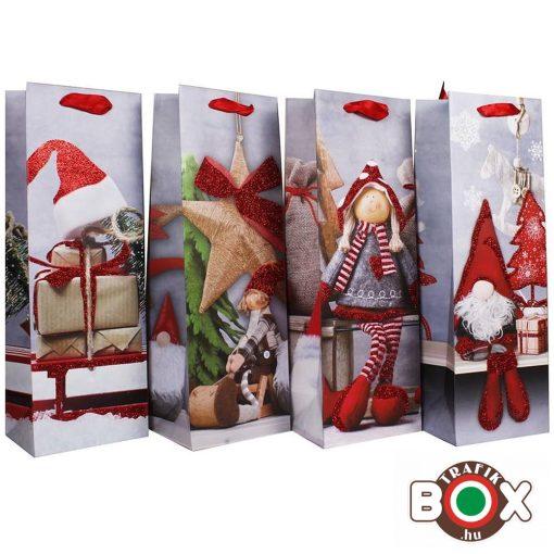 Dísztasak italos Karácsony, Piros Sapkák Disegn HKS-4595