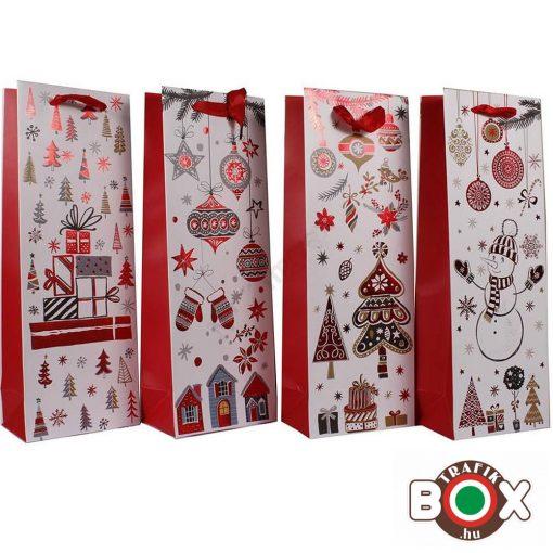 Dísztasak italos Karácsonyi, Piros vegyes Disegn HKS-4597