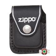 LPCBK Zippo Fekete bőrtok - Fém Klippel