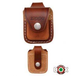 LPLB Zippo Barna bőrtok - Patentos befűző