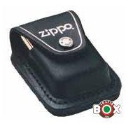 LPTBK ZIPPO Eredeti Bőrtok Fekete Patentos Befűző