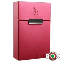 "Adami Stefano Cigarettatartó Doboz 80 M Electric pink ""stylebox"" embossed"