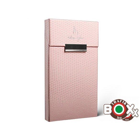 Adami Stefano Cigarettatartó doboz Slim Lizard pink