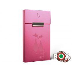 Adami Stefano Cigarettatartó doboz Slim S Electric Pink Cats motif