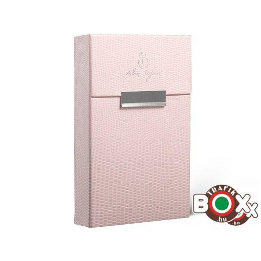 Adami Stefano cigarettatartó doboz Slim WS lizard pink