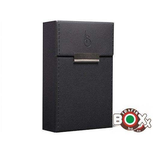 Adami Stefano Cigarettatartó doboz M 80-as Elegance black stitched