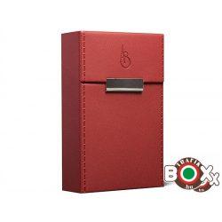 Adami Stefano Cigarettatartó doboz bőrbevonatú Elegance 80 M Red stitched sides